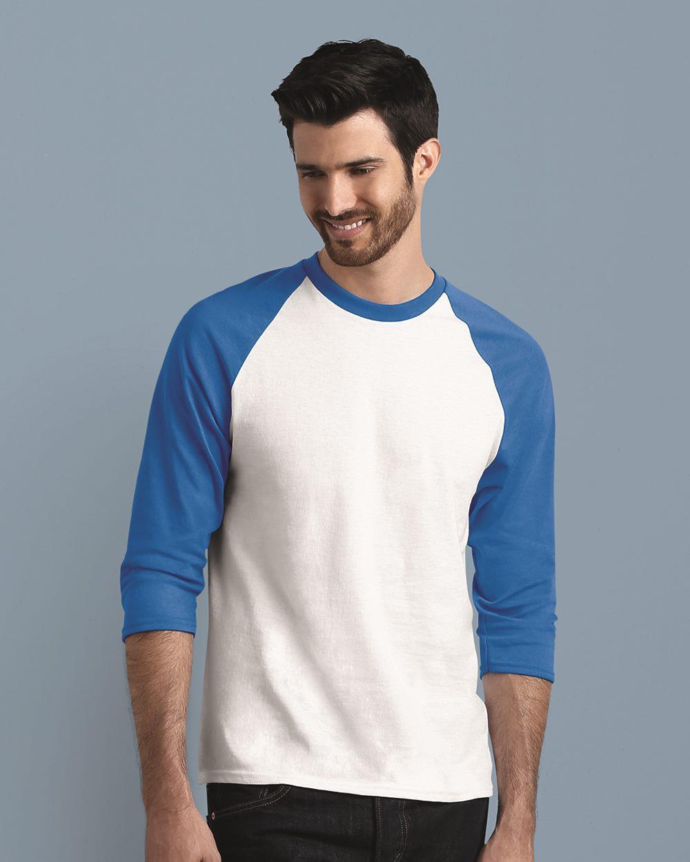 bdce4801 In Case of Emergency Press ::: Long Sleeve Tee – Gildan 5700 – Heavy Cotton  3/4 Raglan Sleeve Baseball T-Shirt